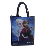 Buy cheap Darkblue 100% enviromental non woven fabric reusable carrier bags water proof from wholesalers