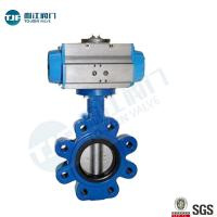 Lug Type Ductile Iron Wafer Butterfly Valve  with Penumactic Actuator for Water Treatment