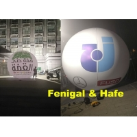 China 3.5m 350CM Inflatable Lighting Balloon With 2 Sides Logo Printing on sale