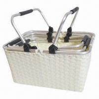 Quality Paper strap storage basket with two handles for sale