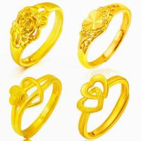 China Hot high quality gold plated flower heart shape rings for engagment and party on sale