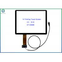 "Quality 14"" USB Interface Projected Capacitive Touch Screen Panel For Commercial Kiosks for sale"