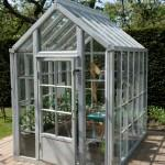 Quality anodized aluminium with transparent solid GAG cover sheet greenhouse kits for vegetablesHX75912 for sale