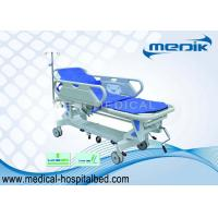 Quality Luxurious PP Patient Transfer Trolley , Mechanical Stretcher Cart for sale