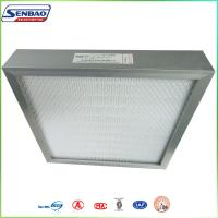 China Aluminum Frame Hepa H13 H14 High Efficiency Mini Pleated Fiberglass Air Filters on sale