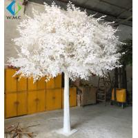 Custom Large Artificial Ficus Plant White Leaf For Indoor Hotel Decoration for sale