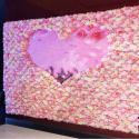40*60cm Silk Fabric Coloful Artificial Rose Flower Wall Vertical Garden Handmade for sale