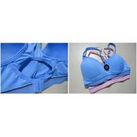 Blue, Purple Breathable Wirelesss 38H Elastic Eco-Friendly OEM Front Closure Sports Bra