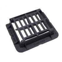 Quality EN124 D400 End Hinged Cast Iron Drain Cover With Black Bitumen Coated for sale