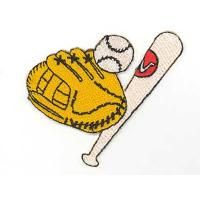 China Baseball Gear Iron On Sports embroidery badge on sale