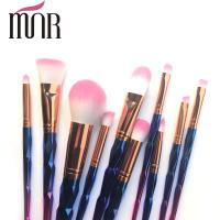 Buy cheap Copper Ferrule Plating Rainbow Professional Makeup Brush Set Environment Friendly product