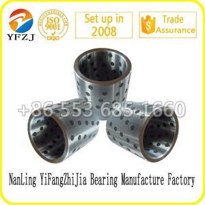 China Self lubricating bearing graphite inlaid solid lubricating steel bearings,steel sleeve on sale