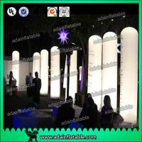 Quality 3M Advertising Event Decoration Inflatable Entrance,Lighting Inflatable Pillar Column for sale