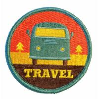 China High Density Iron On Embroidered Patches For School Cloth Brand on sale