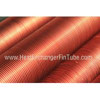 Quality Embedded Fluted Carbon Steel Seamless Single Row Flat Fin Tube 0.5mm thickness for sale