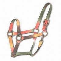 Quality Adjustable Premium Polyester Halter with Throat Snap and Earth-tone Color for sale