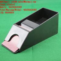 China XF Small Size Dealing Shoe With Infrared Camera To Scan Invisible Bar-Codes Poker In Gambling Cheating Devices on sale