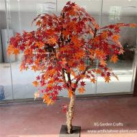 Crimson Red Artificial Maple Tree Home Garden Plants Office Decoration for sale