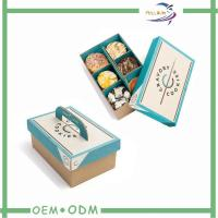 Quality Disposable Biodegradable Paper Bento Lunch Boxes / Take Away Bento Box for sale