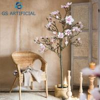 China Indoor Magnolia Trees Artificial Flower Cherry Blossom Tree For Wedding Decoration on sale