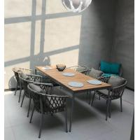 Buy cheap Hot sale Poly belt chair Outdoor Garden furniture sets Coffe mesh fabric chair from wholesalers