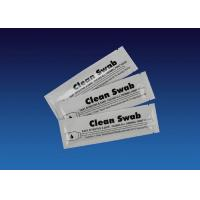 Quality White Check Scanner Cleaner Pre Saturated Single Sponge Head Foam Swab for sale