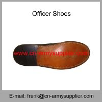 China Wholesale Cheap China Black Leather PU Cement Police Officer Shoes on sale