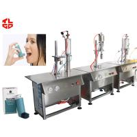 Quality Aerosol Spray Filling Machine for Pharmaceuticals Dose Inhaler for sale