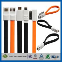 China Flat Magnetic Premium Data Cell Phone USB Cable , IOS8 USB Data Line on sale