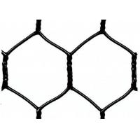 "Buy Garden Fence Black Vinyl Coated Hexagonal Wire Netting With 20 Gauge , 1"" woven mesh at wholesale prices"