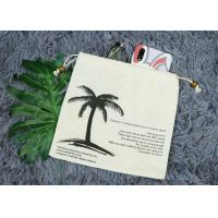 China 20*20 Cm Small Canvas Drawstring Bag With Silk Printing Logo For Gift Package on sale