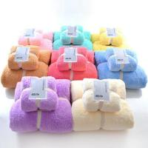 Quality 2pcs Microfiber Baby Towel Sets Plush Bath Face Hand Towel Quick Dry Soft Towels Adult Kids Bath Super Absorbent Towels for sale