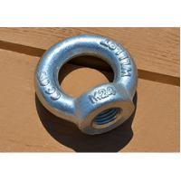 China Small Swivel Lifting Eye Bolt and Nuts DIN582 M24 for Lift equipemt , Structral on sale