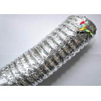 Buy cheap HVAC PET Aluminum Foil Flexible Air Conditioning Duct , 2 inch 4 inch 5 inch Flexible Duct product