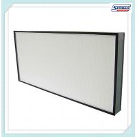 Quality Mini Pleat Ultra Hepa Electronic Air Filter High Efficiency , Polyurethane Sealant for sale