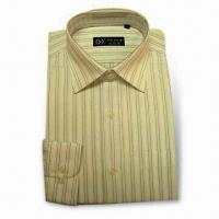 Quality Men's Long Sleeve Dress Shirt in Stripe Design for sale