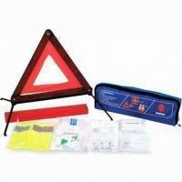 Quality Car Emergency Kit, Includes Triangle, First Aid Kit and Safety Vest for sale