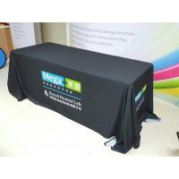 China Trade Show Customized Size Stretch Fabric Table Cover Dye Sublimation Printing on sale