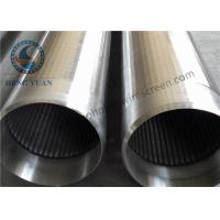 Quality Stainless Steel 304 Well Pipe / Johnson Filter Water Well Pipe Low Energy Consumption for sale