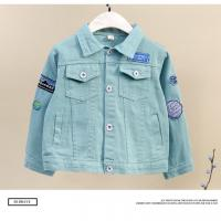 China 2019 New Model children's jeans denim jacket clothing kids boys with Printed Patches Age 7-14 on sale