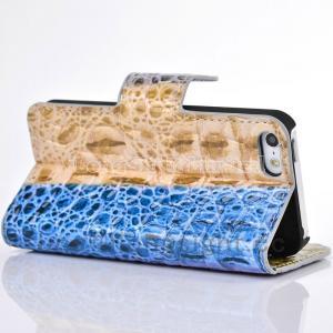 Quality Multi-Color rainbow Crocodile Skin Handbag Leather Case For iPhone 5/5s for sale