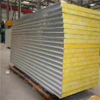 Quality fireproof 50mm glass wool prefabricated house wall panel 1150-50-0.376mm for sale
