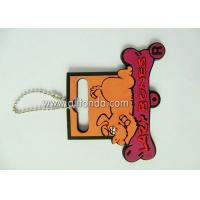 China Custom cute cartoon pvc clothing tag for school uniform children clothing on sale
