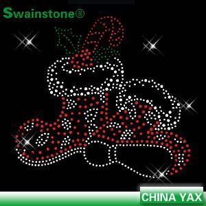 China hot fix rhinestone santa motif;rhinestone hot fix santa motif;santa motif hot fix on sale