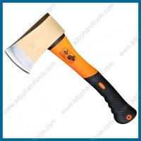 China GS axe with fiberglass handle, felling axe with fiber handle, single bit axe, camping axe with handle on sale