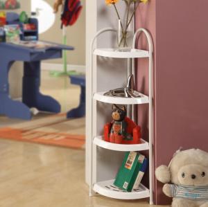 Quality Mobile Bathroom Corner Storage Shelves , Adjustable Plastic Corner Shelf Multiple Function for sale