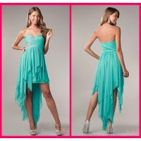 Quality Evening Party Gown Short Long Homecoming Dresses With Peacock Chiffon Short Beading for sale