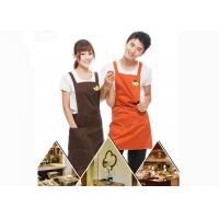 Quality Custom Personalised Kitchen Cooking Aprons Colorful Embroidery With Twill Fabric for sale