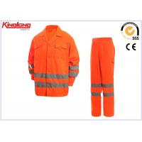 Quality Pants and Jacket high visibility work clothes With Reflective Tapes for sale