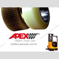 Quality APEX Reach Truck Tire, Polyurethane Tire, PU Tire for Electric Forklift, Lift Truck for sale